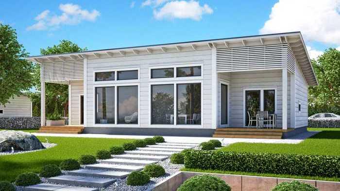 maison en bois en 3D
